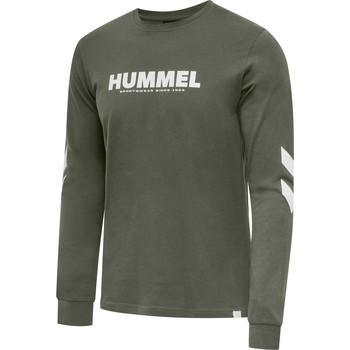 Îmbracaminte Bărbați Tricouri cu mânecă lungă  Hummel T-shirt manches longues  hmlLEGACY vert kaki/blanc