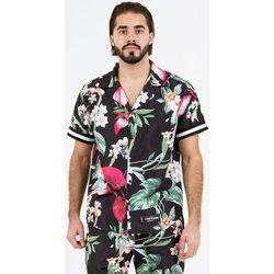 Îmbracaminte Bărbați Cămăsi mânecă scurtă Sixth June Chemise  tropical noir