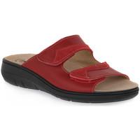Pantofi Femei Papuci de vară Emanuela 1242 ROSSO Rosso