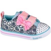 Pantofi Fete Pantofi sport Casual Skechers Sparkle Litelil Heartsland Albastru marim