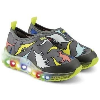 Pantofi Băieți Pantofi Slip on Bibi Shoes Pantofi Sport LED Bibi Roller Celebration Dino Gri