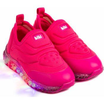 Pantofi Fete Pantofi Slip on Bibi Shoes Pantofi Sport LED Bibi Roller Celebration Rosa Roz