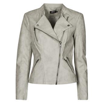 Îmbracaminte Femei Jachete din piele și material sintetic Only ONLAVA Gri