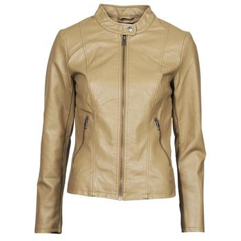 Îmbracaminte Femei Jachete din piele și material sintetic Only ONLMELISA Bej