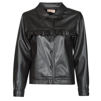 Îmbracaminte Femei Jachete din piele și material sintetic Moony Mood PABLIS Negru
