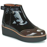 Pantofi Femei Ghete Fericelli JANDICI Negru / Maro