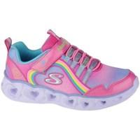 Pantofi Fete Fitness și Training Skechers Heart Lights Rainbow Lux Roz