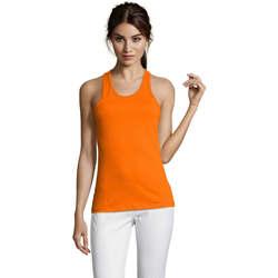 Îmbracaminte Femei Maiouri și Tricouri fără mânecă Sols Justin camiseta sin mangas Naranja