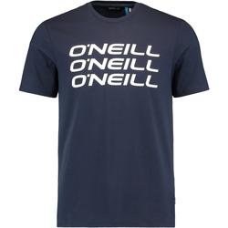Îmbracaminte Bărbați Tricouri mânecă scurtă O'neill Triple Stack Albastru