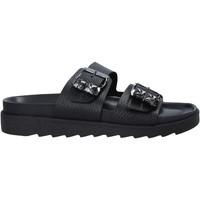 Pantofi Femei Papuci de vară Apepazza S1SOFTWLK03/LEA Negru