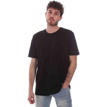 Îmbracaminte Bărbați Tricouri mânecă scurtă Key Up 2M915 0001 Negru