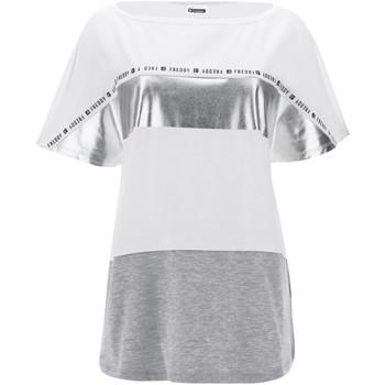 Îmbracaminte Femei Tricouri mânecă scurtă Freddy S1WSDT2M Alb