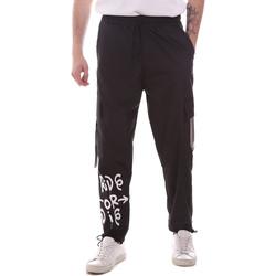 Îmbracaminte Bărbați Pantaloni Cargo Disclaimer 21EDS50560 Negru