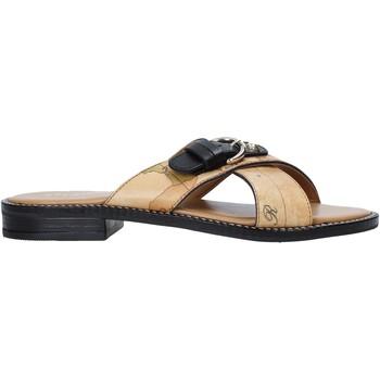 Pantofi Femei Papuci de vară Alviero Martini E085 578A Maro