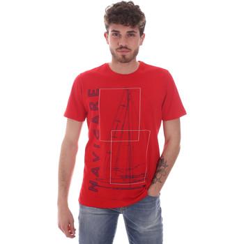 Îmbracaminte Bărbați Tricouri mânecă scurtă Navigare NV31109 Roșu