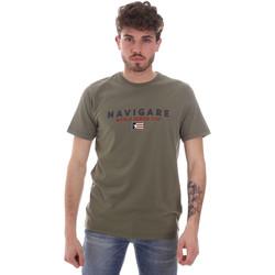 Îmbracaminte Bărbați Tricouri mânecă scurtă Navigare NV31139 Verde