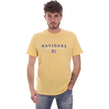 Îmbracaminte Bărbați Tricouri mânecă scurtă Navigare NV31139 Galben