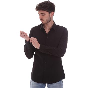 Îmbracaminte Bărbați Cămăsi mânecă lungă Gaudi 111GU45001 Negru