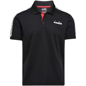 Îmbracaminte Bărbați Tricou Polo mânecă scurtă Diadora 102175672 Negru