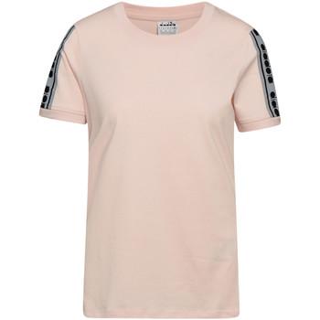 Îmbracaminte Femei Tricouri mânecă scurtă Diadora 502175812 Roz