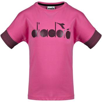 Îmbracaminte Copii Tricouri mânecă scurtă Diadora 102175914 Roz