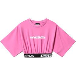 Îmbracaminte Femei Topuri și Bluze Napapijri NP0A4FHH Roz