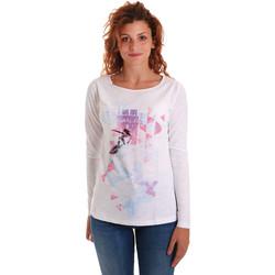 Îmbracaminte Femei Tricouri cu mânecă lungă  Key Up 5G68S 0001 Alb