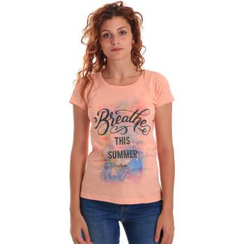 Îmbracaminte Femei Tricouri mânecă scurtă Key Up 5D59S 0001 Portocale