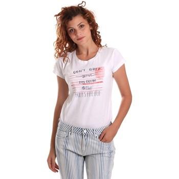 Îmbracaminte Femei Tricouri mânecă scurtă Key Up 5K02S 0001 Alb
