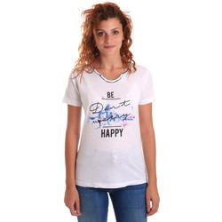 Îmbracaminte Femei Tricouri mânecă scurtă Key Up 5G63S 0001 Alb