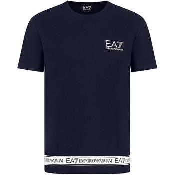 Îmbracaminte Bărbați Tricouri mânecă scurtă Ea7 Emporio Armani 3KPT05 PJ03Z Albastru