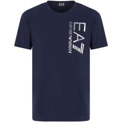 Îmbracaminte Bărbați Tricouri mânecă scurtă Ea7 Emporio Armani 3KPT10 PJ7RZ Albastru