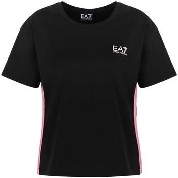 Îmbracaminte Femei Tricouri mânecă scurtă Ea7 Emporio Armani 3KTT21 TJ29Z Negru
