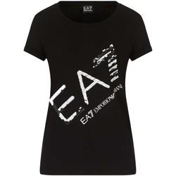 Îmbracaminte Femei Tricouri mânecă scurtă Ea7 Emporio Armani 3KTT28 TJ12Z Negru