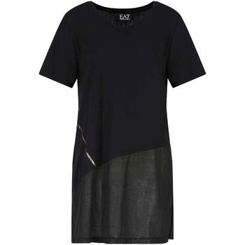Îmbracaminte Femei Tricouri mânecă scurtă Ea7 Emporio Armani 3KTT36 TJ4PZ Negru