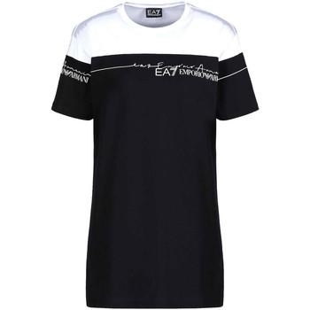 Îmbracaminte Femei Tricouri mânecă scurtă Ea7 Emporio Armani 3KTT59 TJBEZ Negru