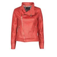 Îmbracaminte Femei Jachete din piele și material sintetic Desigual MARBLE Roșu