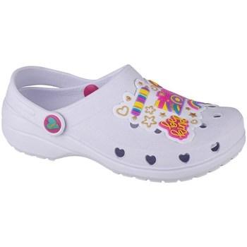 Pantofi Fete Saboti Skechers Heart Charmer Photobomb Alb