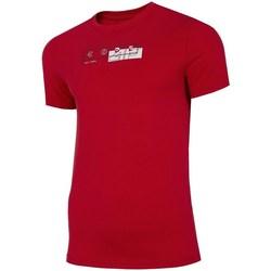 Îmbracaminte Bărbați Tricouri mânecă scurtă 4F TSM021 Roșii