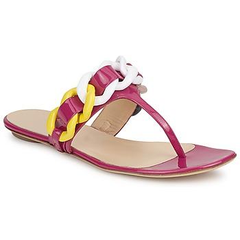 Încăltăminte Femei  Flip-Flops Versus by Versace FSD364C Roz / Alb / Galben