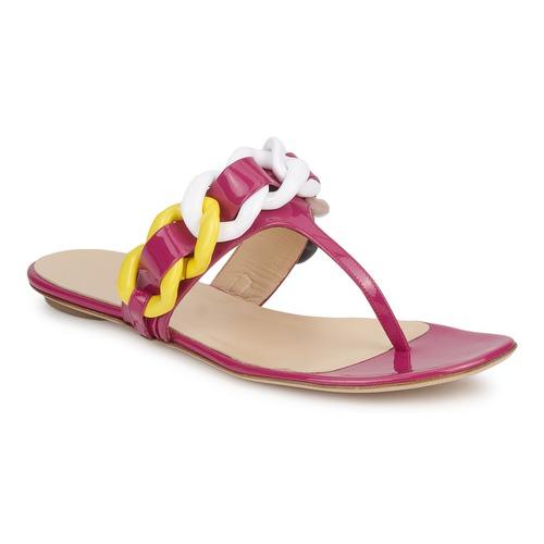 Pantofi Femei  Flip-Flops Versus by Versace FSD364C Roz / Alb / Galben