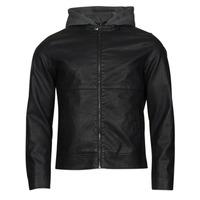 Îmbracaminte Bărbați Jachete din piele și material sintetic Jack & Jones JCOWILLY Negru