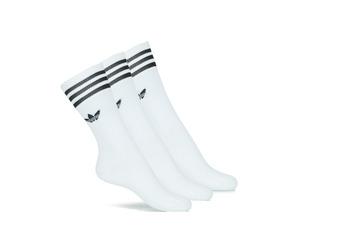 Lenjerie intimă Șosete înalte adidas Originals SOLID CREW SOCK X3 Alb