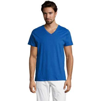Îmbracaminte Bărbați Tricouri mânecă scurtă Sols Master camiseta hombre cuello pico Azul