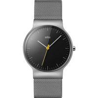 Ceasuri & Bijuterii Bărbați Ceasuri Analogice Braun Brawn BN0211BKSLMHG, Quartz, 38mm, 3ATM Argintiu