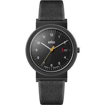Ceasuri & Bijuterii Bărbați Ceasuri Analogice Braun Brawn AW10EVOB, Quartz, 39mm, 3ATM Negru