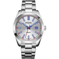 Ceasuri & Bijuterii Bărbați Ceasuri Analogice Rotary GB05180/59, Quartz, 40mm, 10ATM Argintiu