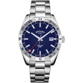 Ceasuri & Bijuterii Bărbați Ceasuri Analogice Rotary GB05176/05, Quartz, 40mm, 10ATM Argintiu