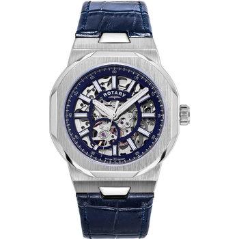 Ceasuri & Bijuterii Bărbați Ceasuri Analogice Rotary GS05415/05, Automatic, 40mm, 10ATM Argintiu