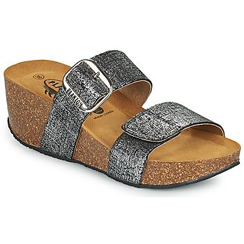 Pantofi Femei Papuci de vară Plakton SO ROCK Negru / Metalizat